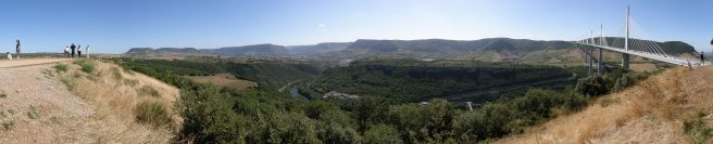 Panoramic view of the Millau Viaduct, France
