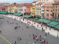 Piazza Bra - Via Dietro Anfiteatro, taken from the Verona Arena