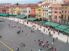 Piazza Bra - Via Dietro Anfiteatro, taken from the Verona Arena