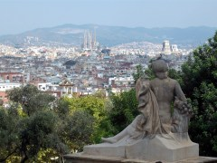 La sagrada familia from the national art museum catalonia, Barcelona