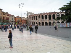 Verona Arena from Piazza Bra