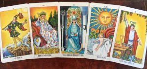 Hobbies Metaphysics Some Major Arcana cards from the Tarot.