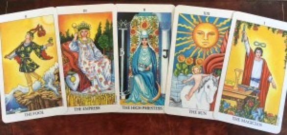 Some Major Arcana cards from the Tarot.