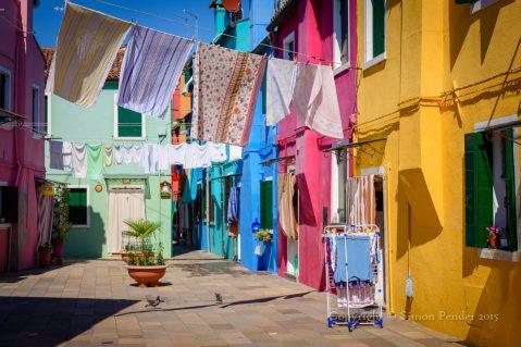 Coloured houses, Burano, Venice