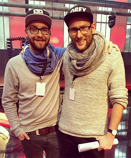 Simon und sein Zwillingsbruder Mark Forster