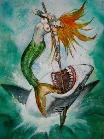 mermaid vs shark