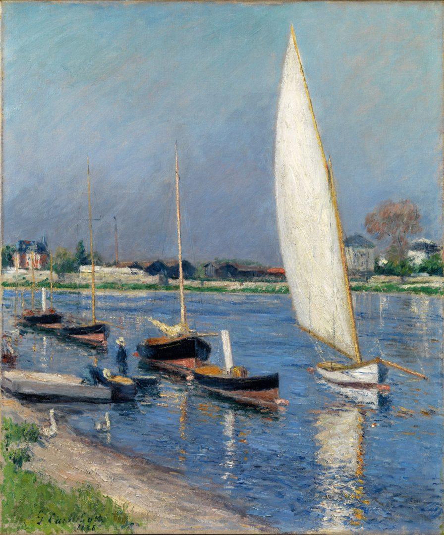 Voiliers sur la Seine  Argenteuil  Dickinson