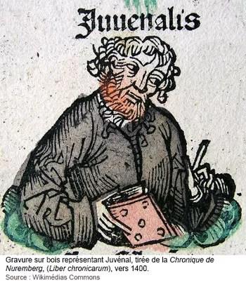 Juvénal, représenté en gravure sur bois vers 1400 (source)