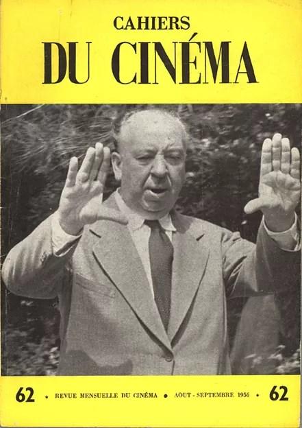 """""""Couverture des Cahiers du cinéma, n°62, août-septembre 1956"""" [source]"""