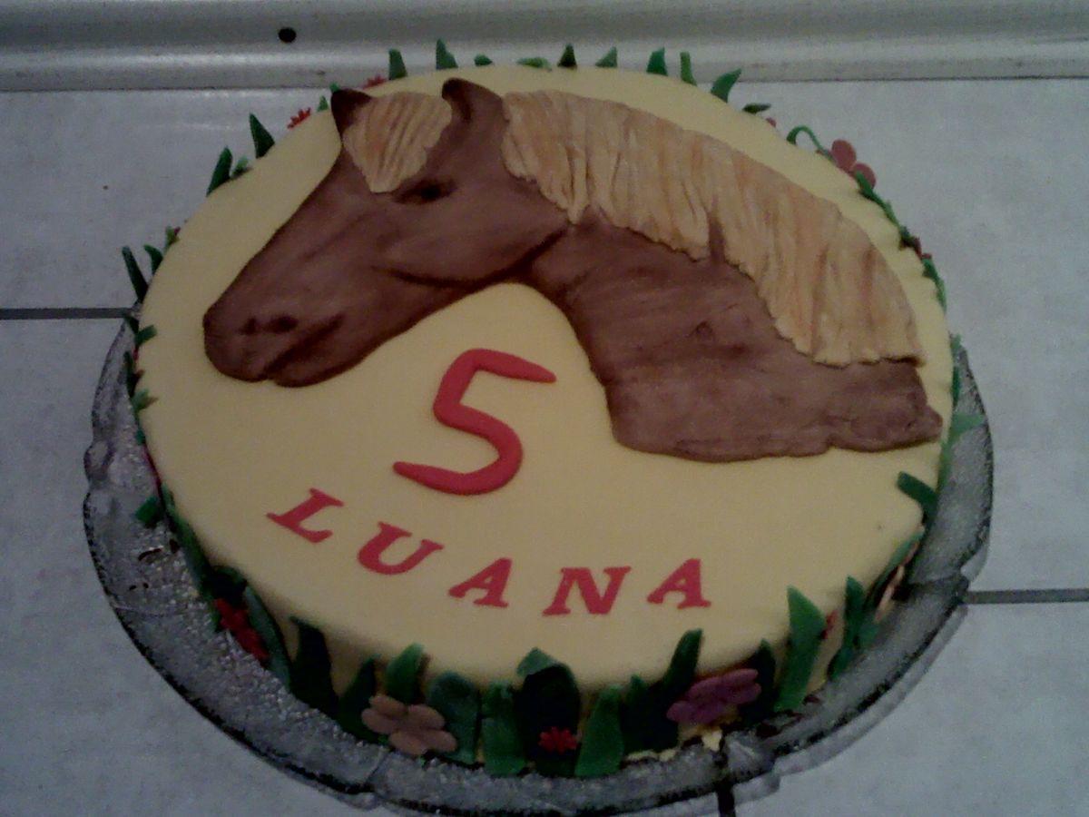 Pferdekuchen zu Luanas 5Geburtstag