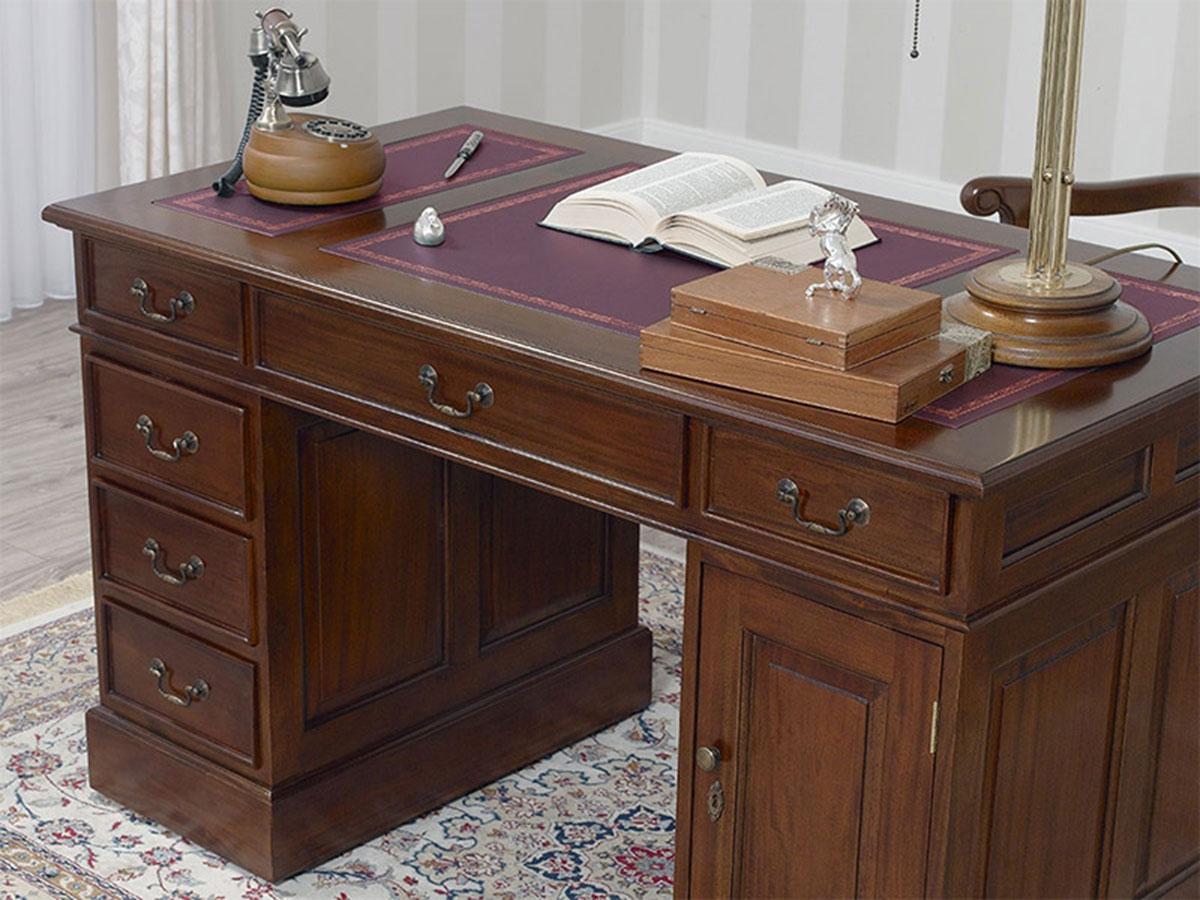 Partner Schreibtisch Victorian Englischer Stil Bro Doppelschreibtisch 130 cm wa  eBay