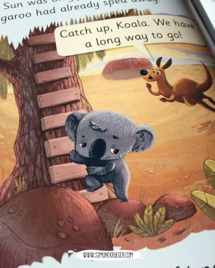 Snapshot of Koala and Kangaroo starting their journey.