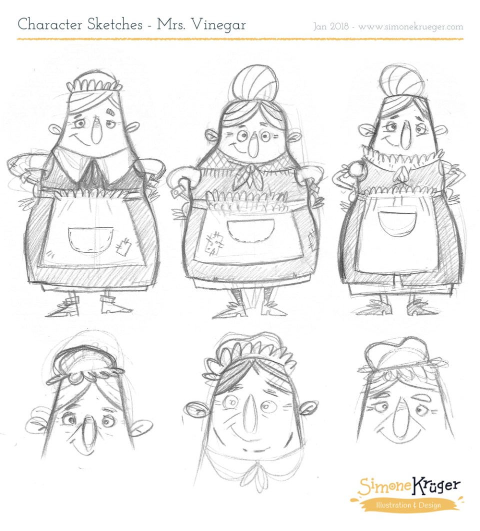 Character Desing for Mrs.Vinegar