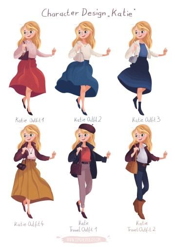 Character Design Katie