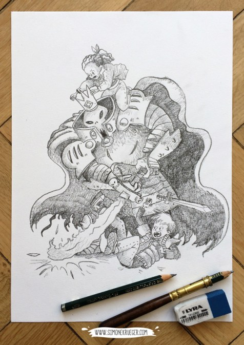 Final Battle - Pencil Artwork