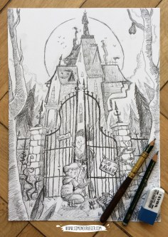 Gate - Pencil Artwork
