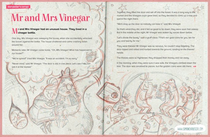Sketch for the first page of Mr. and Mrs- Vinegar