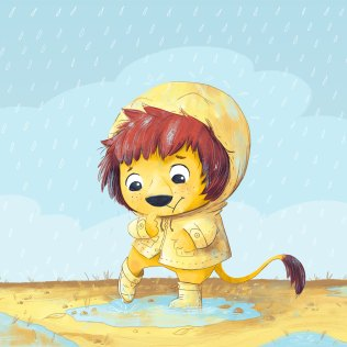 Lion Kind seems to be unsure about the rain