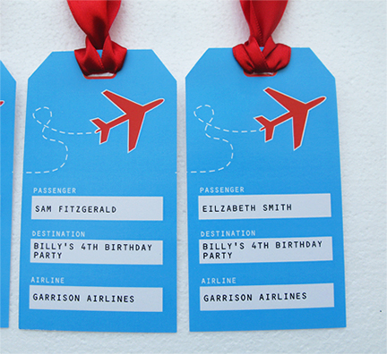 airplane birthday party invitation and printable collection