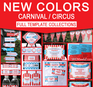 Carnival Signs Circus Signs Birthday Party Decorations