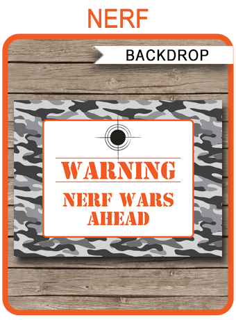 Nerf Party Backdrop or Sign  Nerf Birthday Party Decorations