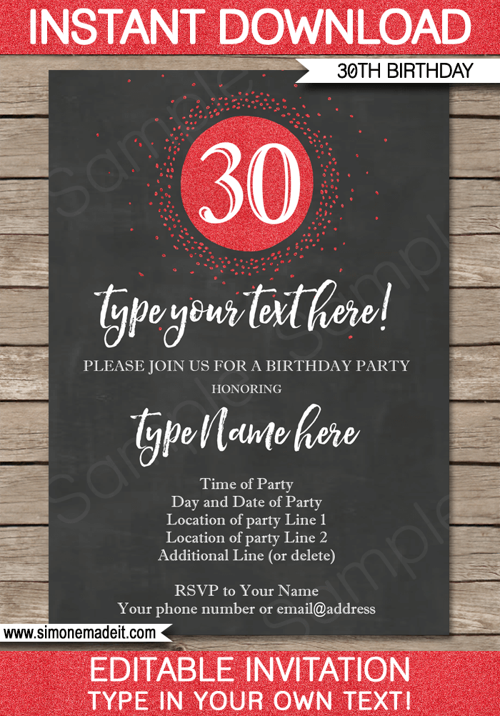 Customize Your Own Invitations