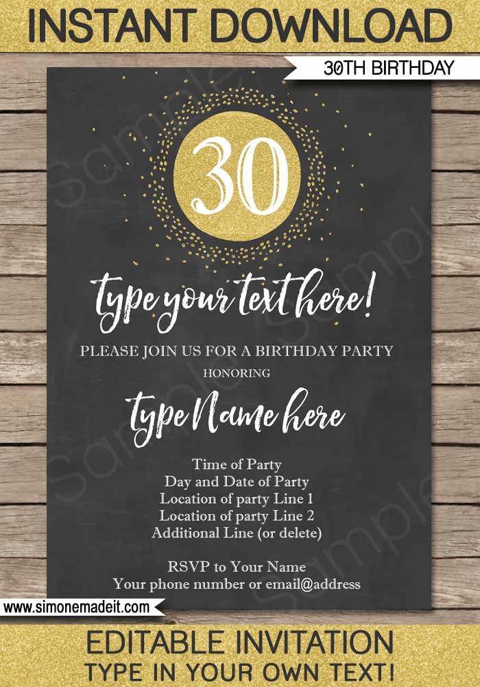 birthday invitations email templates