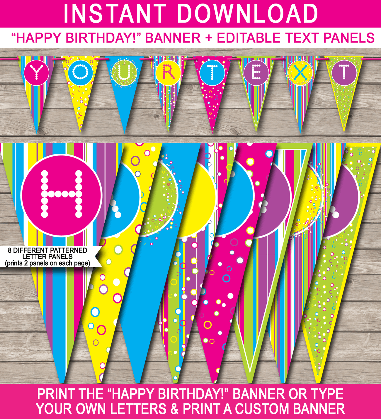 colorful banner template