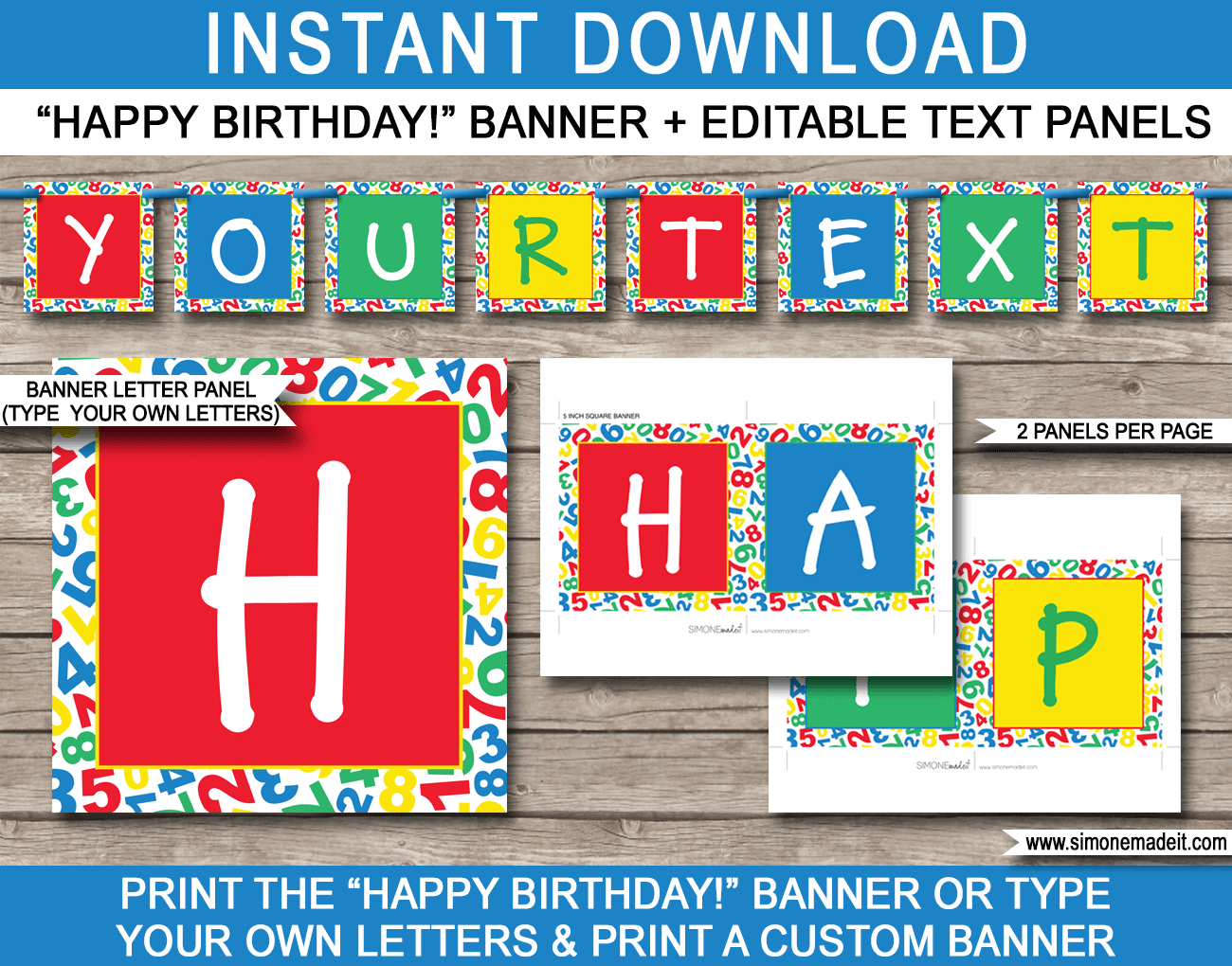 sesame street party banner template
