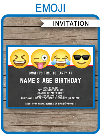 Emoji Theme Party Invitations Template