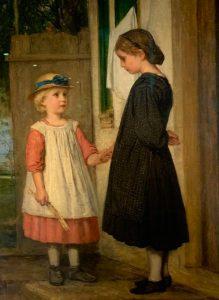 Albert Anker, la petite amie 1862, huile sur toile