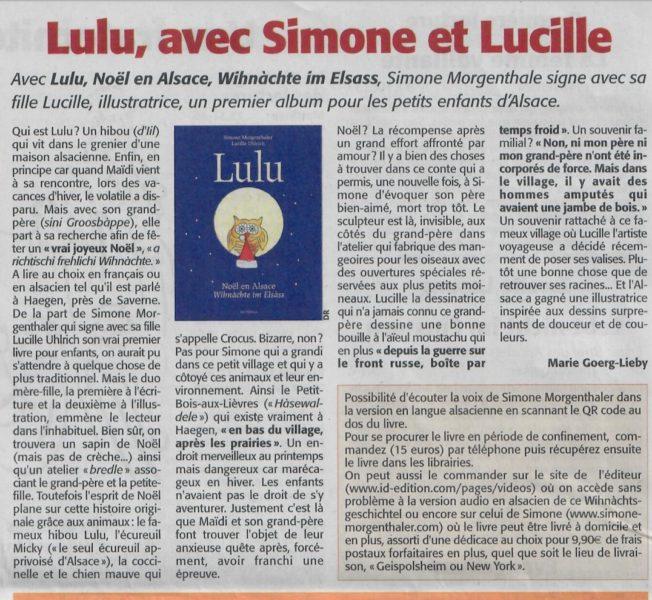 article Lulu Ami Hebdo