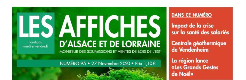 TITRE AFFICHES ALSACE LORRAINE MONITEUR DÉCEMBRE 2020