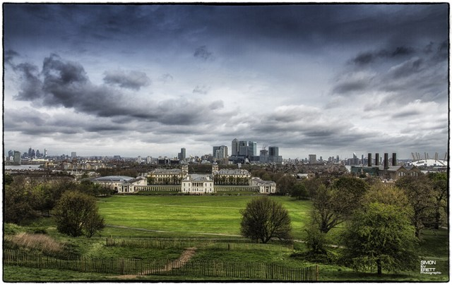 Greenwich Park london Panoramic view