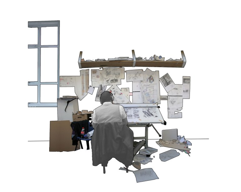 Studio Workspace (Collage)