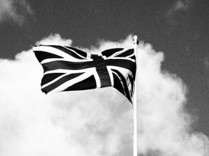 Grainy Film photo of Union Flag