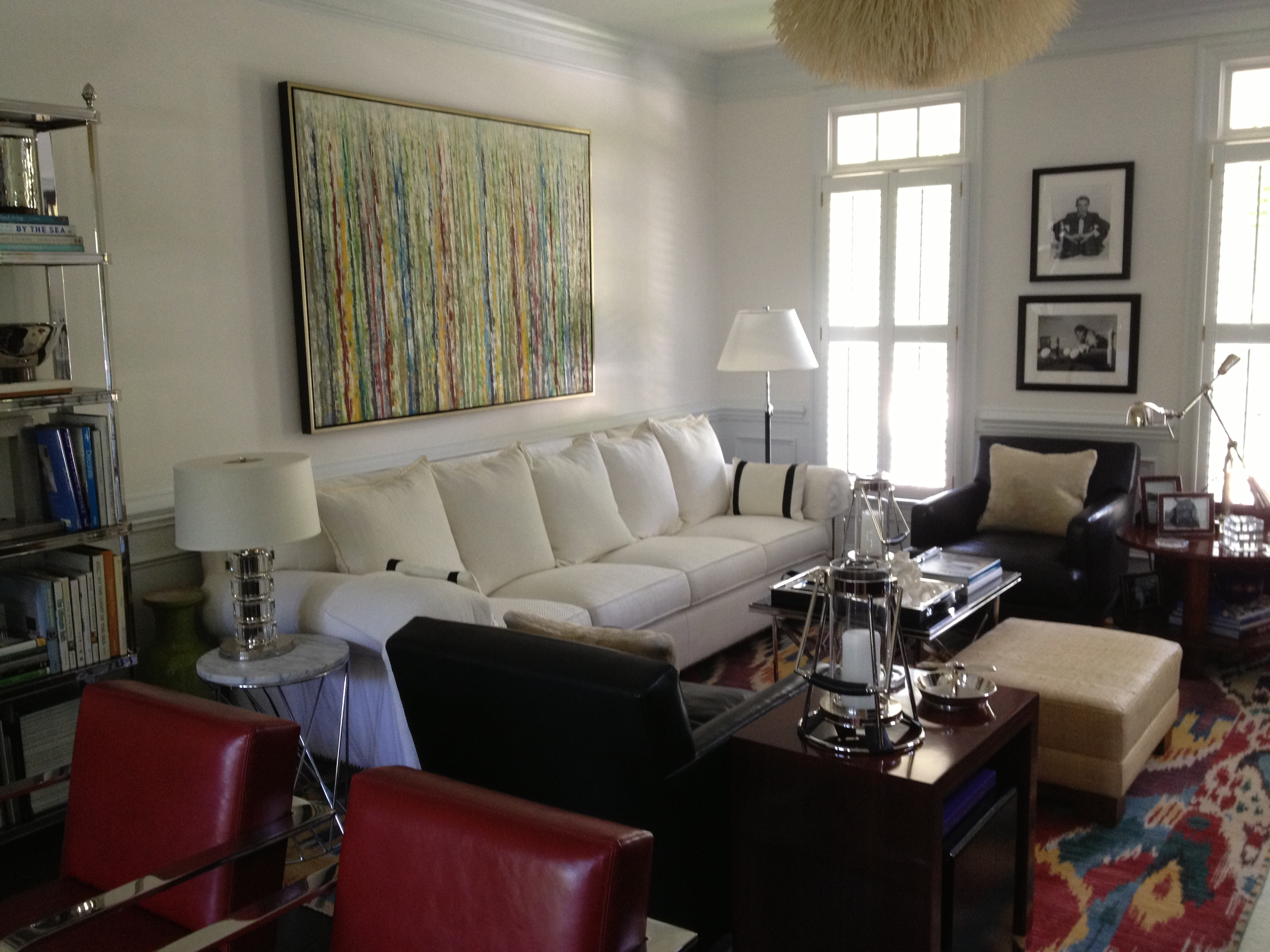 looking for leather sofas sofa cinza e almofadas coloridas our dining and living room makeover from last year – simon ...
