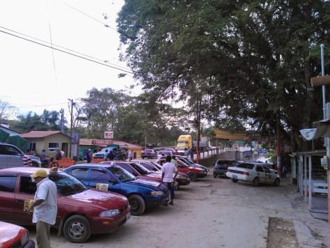 Belize border into Guatemala