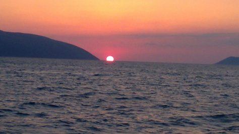 Sunset albania orikum marina