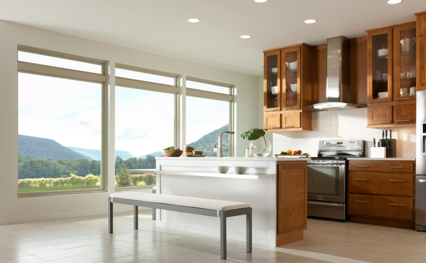 kitchen windows white appliances how to choose the right for your home a picture window with an amazing view
