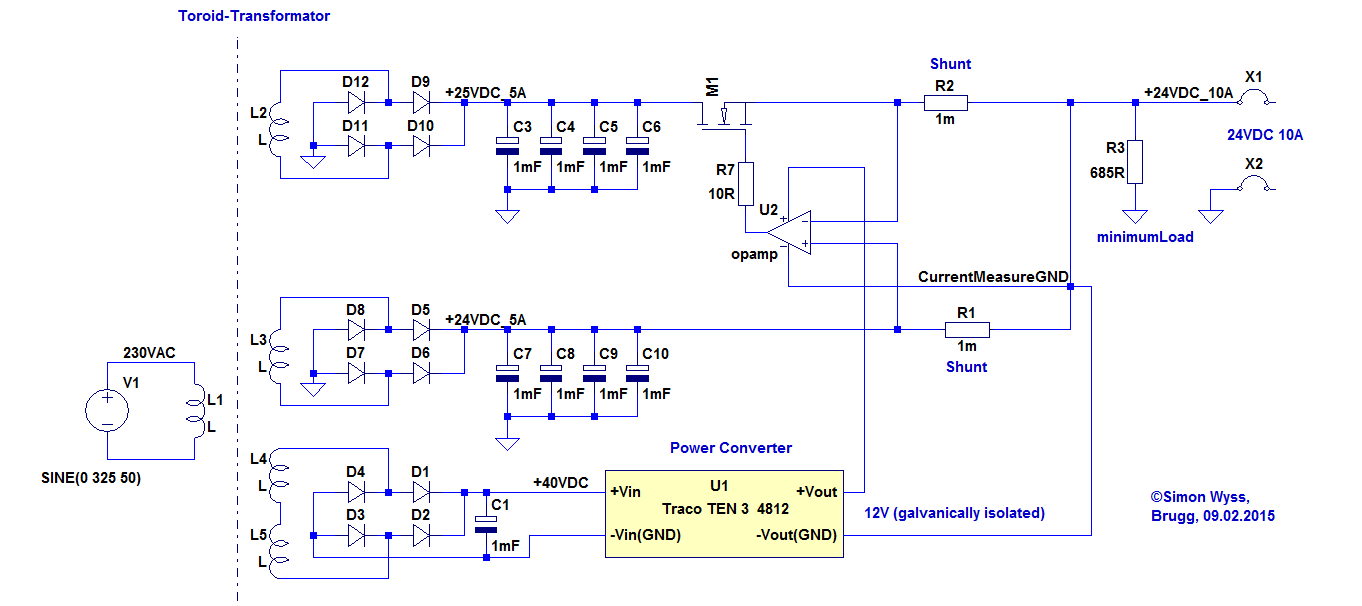 Amplifier With Power Supply Schematic 24v To 12v Converter Powersupplycircuit Circuit Diagram Seekic