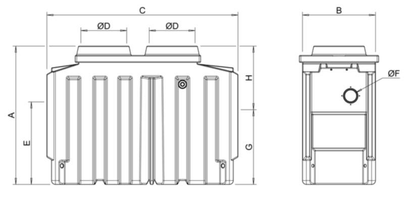 Separador Hidrocarburos de 1,5 a 15 l/s CE 5mg/L con
