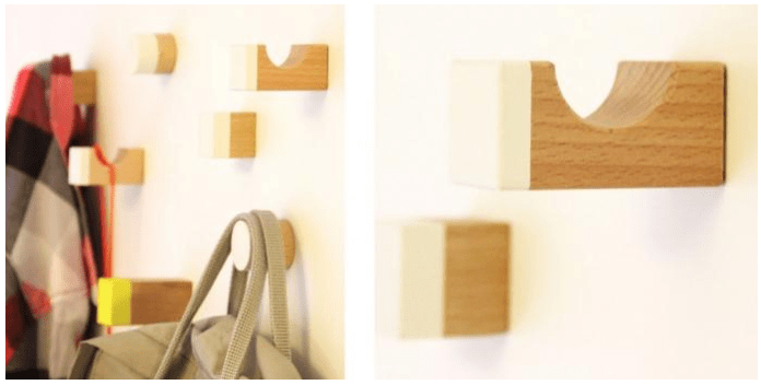 25 DIY hallyway hooks from blocks via simphome