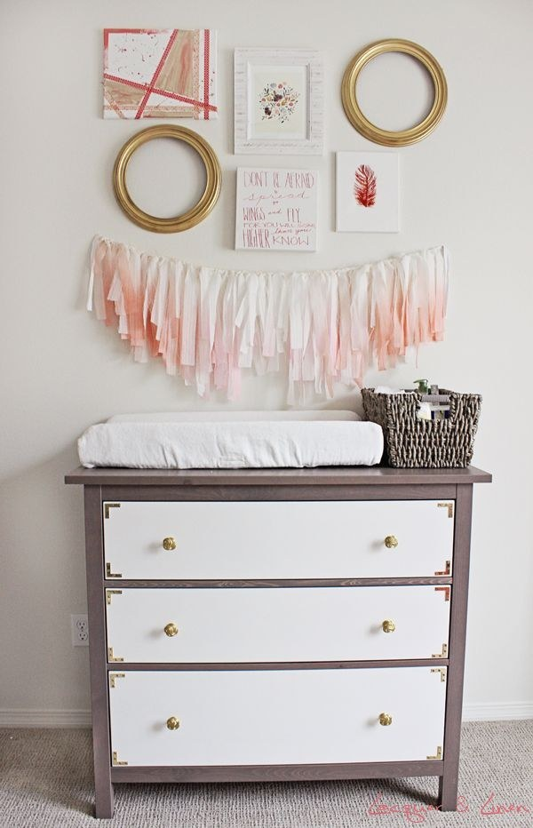 26 Make over a Hemnes dresser to turn it into a beautiful piece for a nursery via simphome