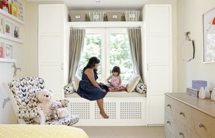 29 Use Ikea wardrobe units to create built ins around a window seat via simphome