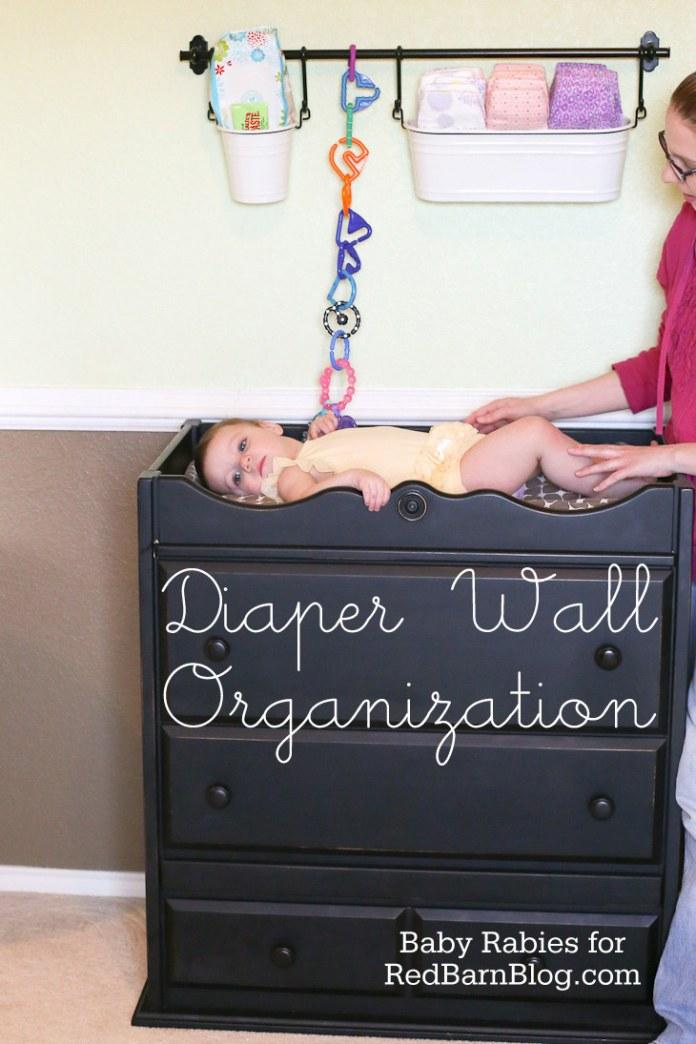 30 Use an Ikea kitchen storage system to organize diapers via simphome