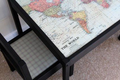 7 Spruce up the Latt table with a world map 1 via simphome