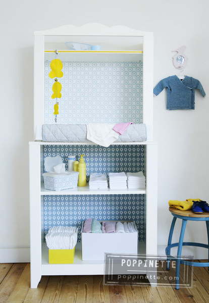 9 Give an Ikea changing table a colorful upgrade via simphome