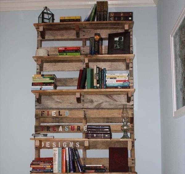 simphome vertical pallet bookshelf