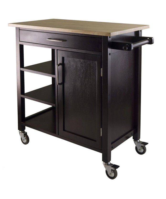 3 Winsome Mali Kitchen Cart via Simphome 1